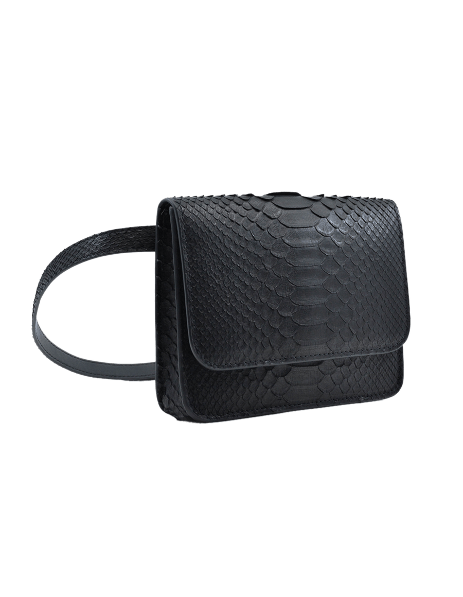 Black Python Bella Belt Bag