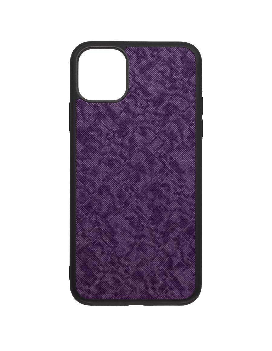 Indigo Purple Saffiano Vegan iPhone 11 Pro Max Case