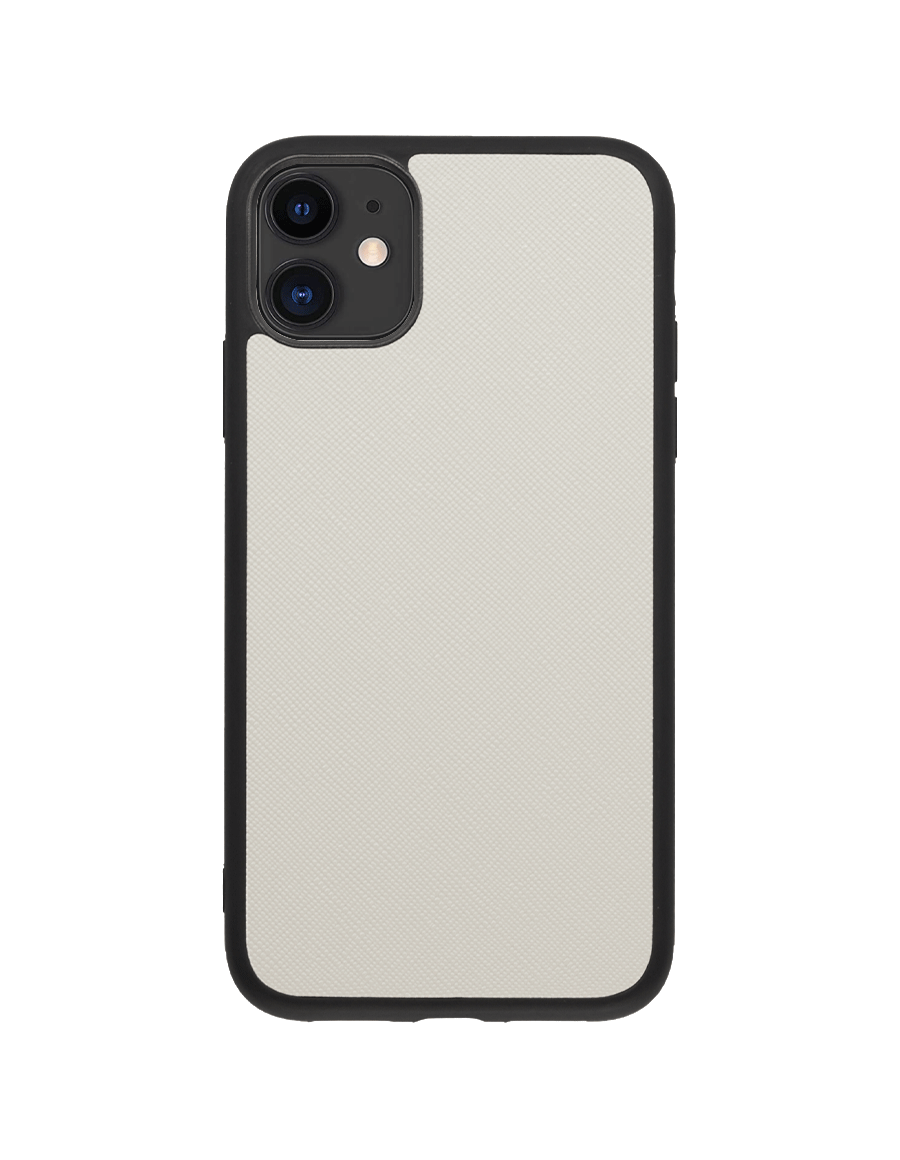 Linen White Saffiano Vegan iPhone 11 Case