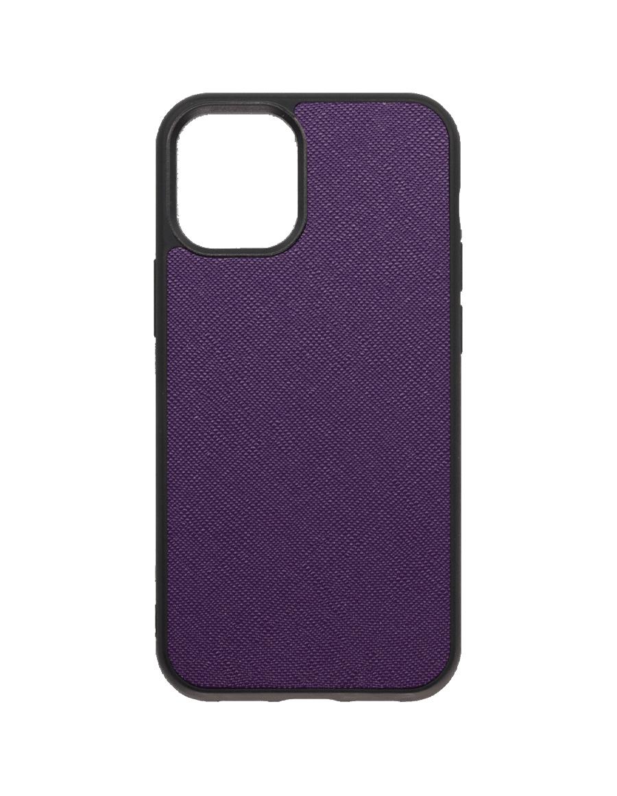 Indigo Purple Saffiano Vegan iPhone 12 MINI Case