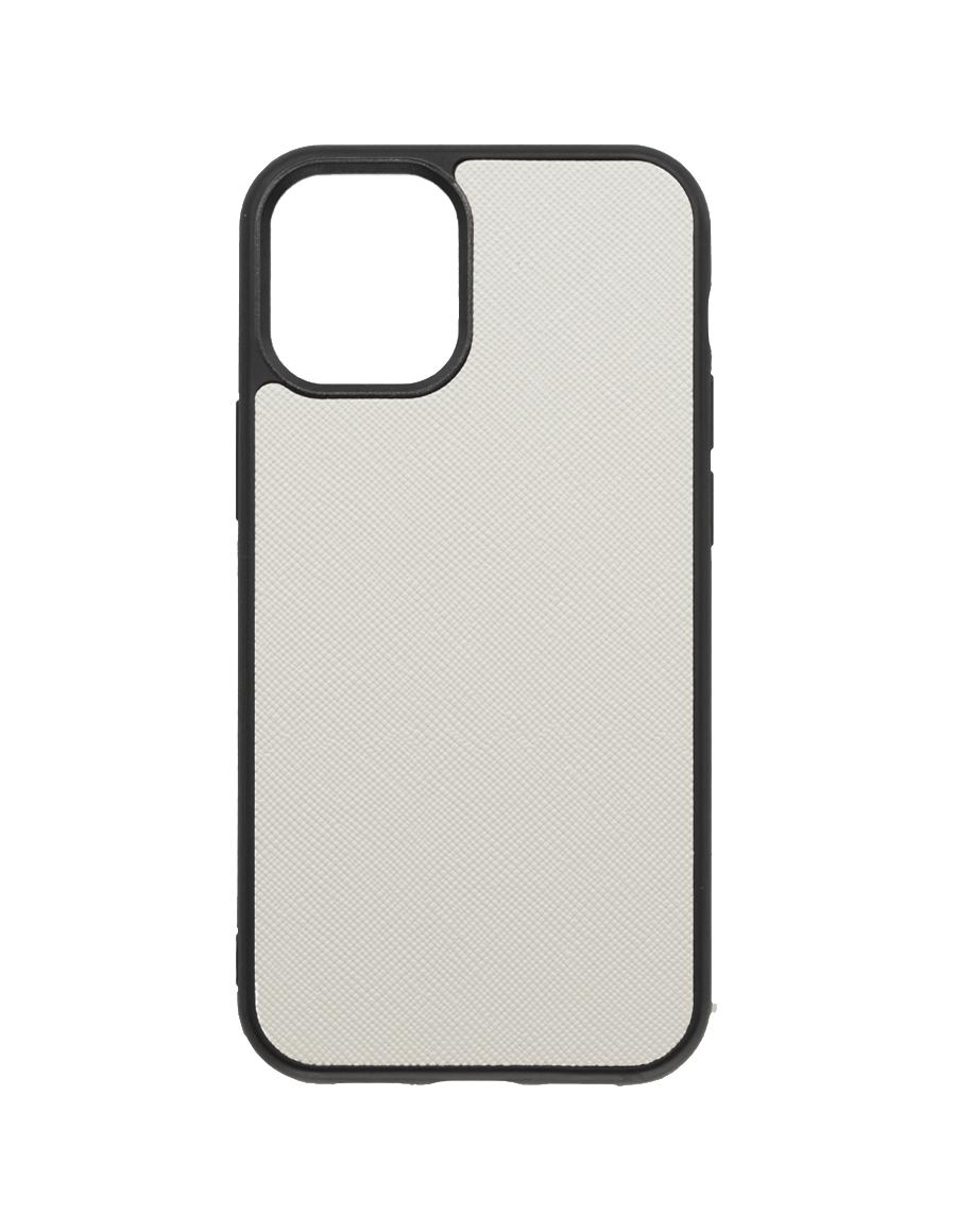 Linen White Saffiano Vegan iPhone 12 MINI Case