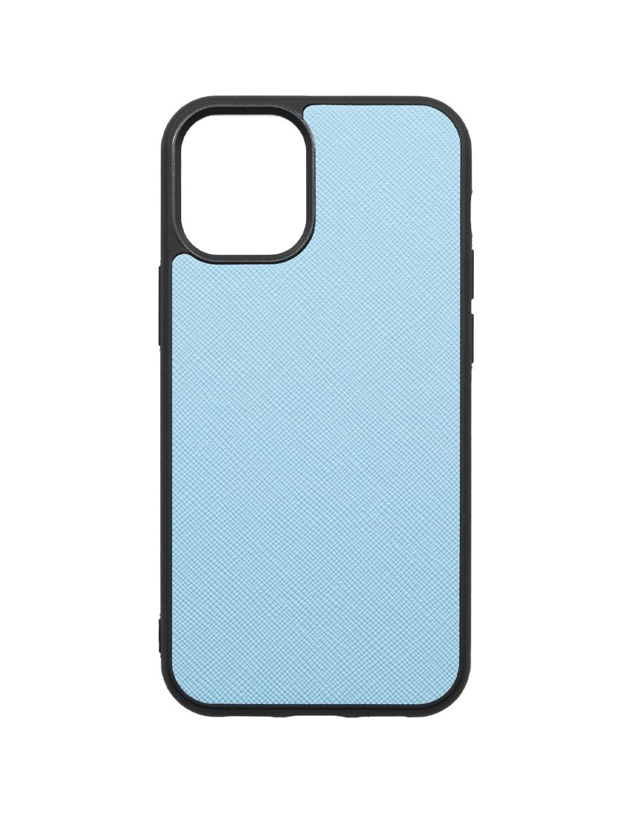 Frost Blue Saffiano Vegan iPhone 12 MINI Case