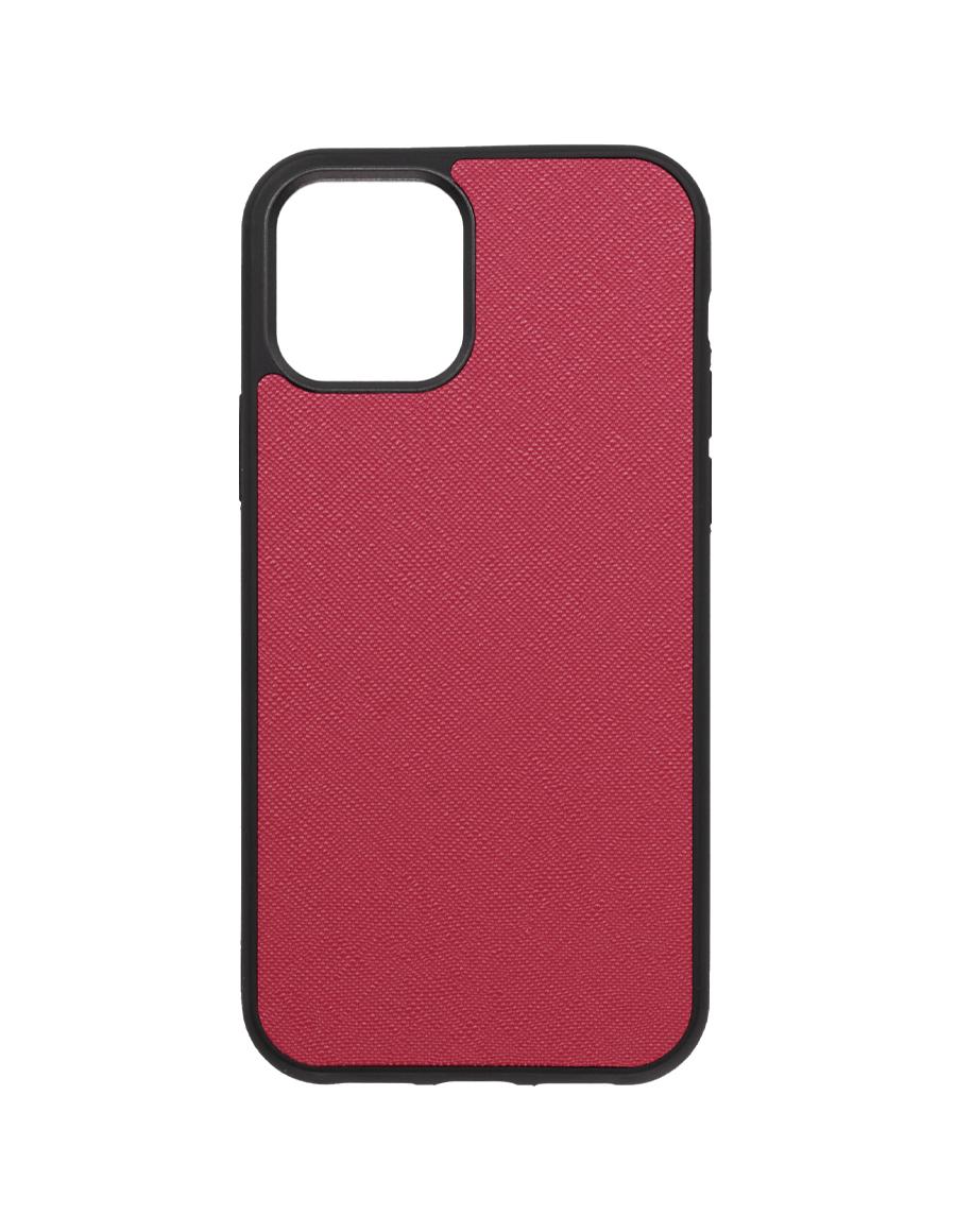 Rubine Saffiano  Vegan iPhone 12 Pro Case