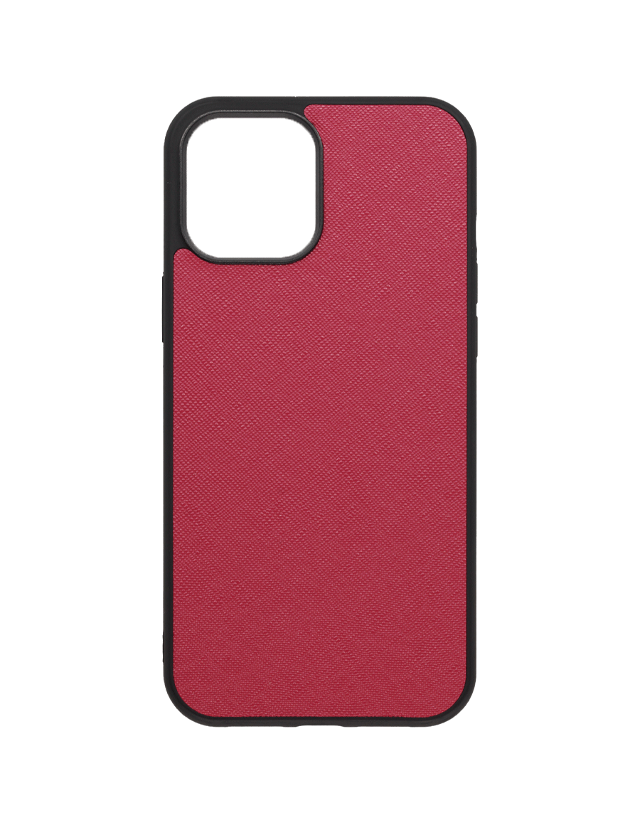 Rubine Saffiano  Vegan iPhone 12 Pro Max Case
