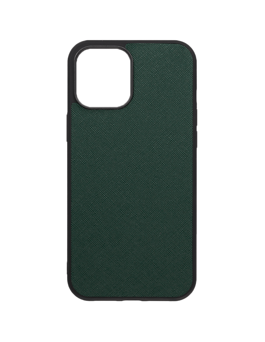 Timber Green Saffiano  Vegan iPhone 12 Pro Max Case