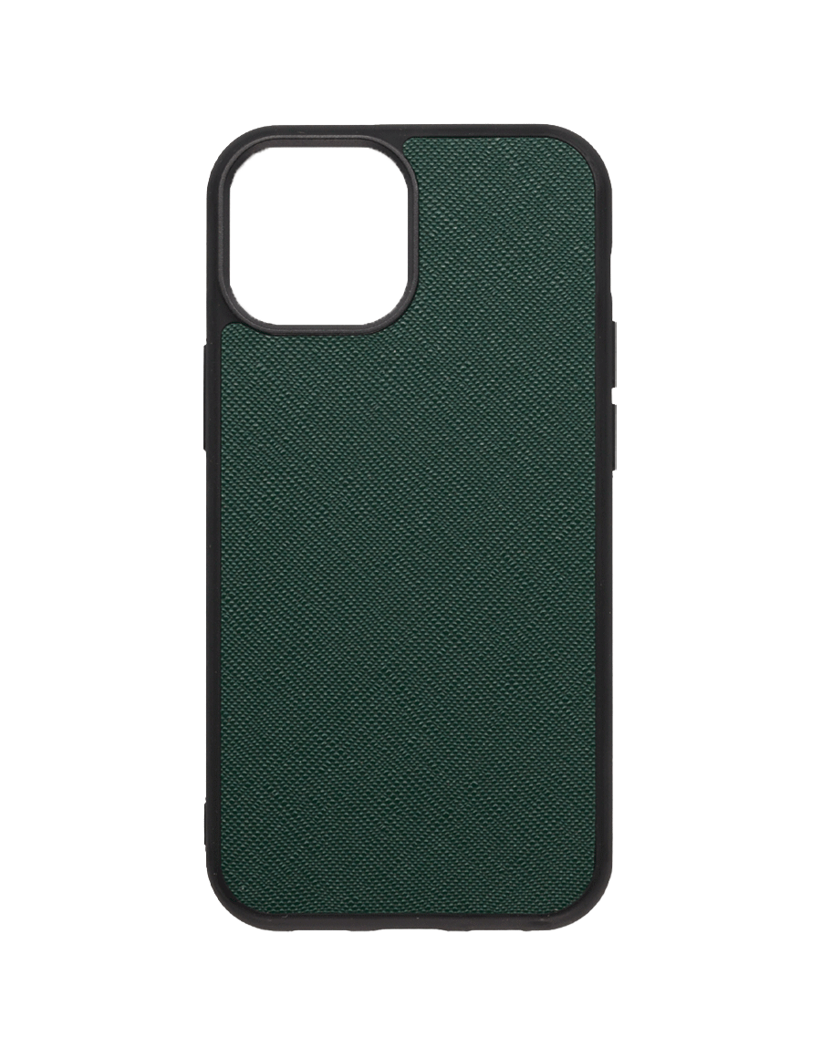 Timber Green Saffiano Vegan iPhone 13 MINI Case