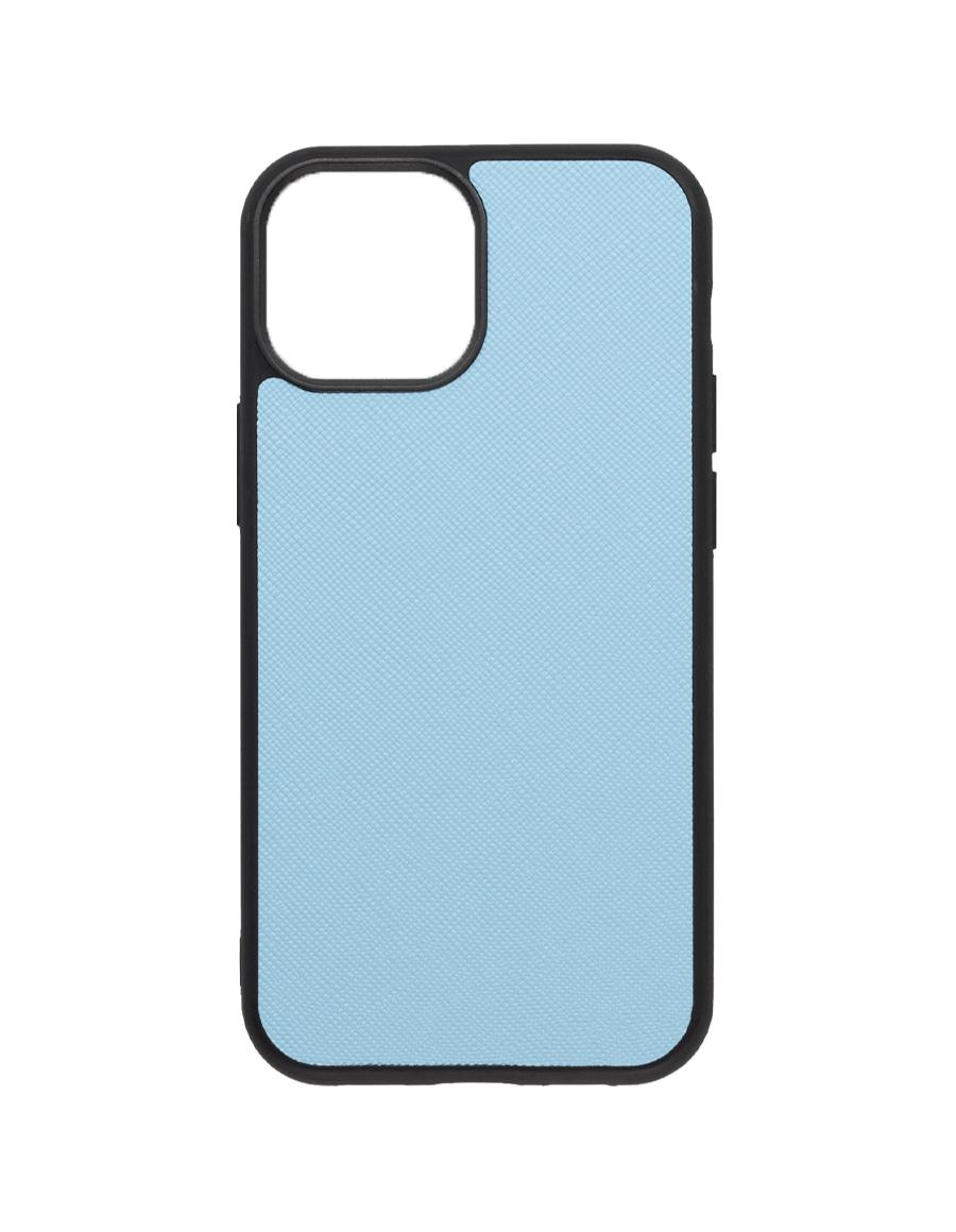 Frost Blue Saffiano Vegan iPhone 13 MINI Case