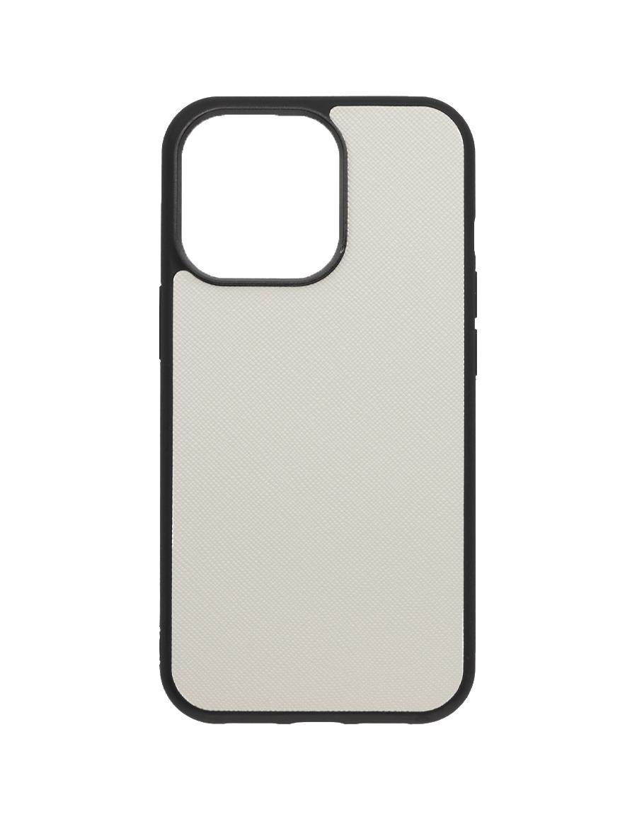 Linen White Saffiano Vegan iPhone 13 Pro Case