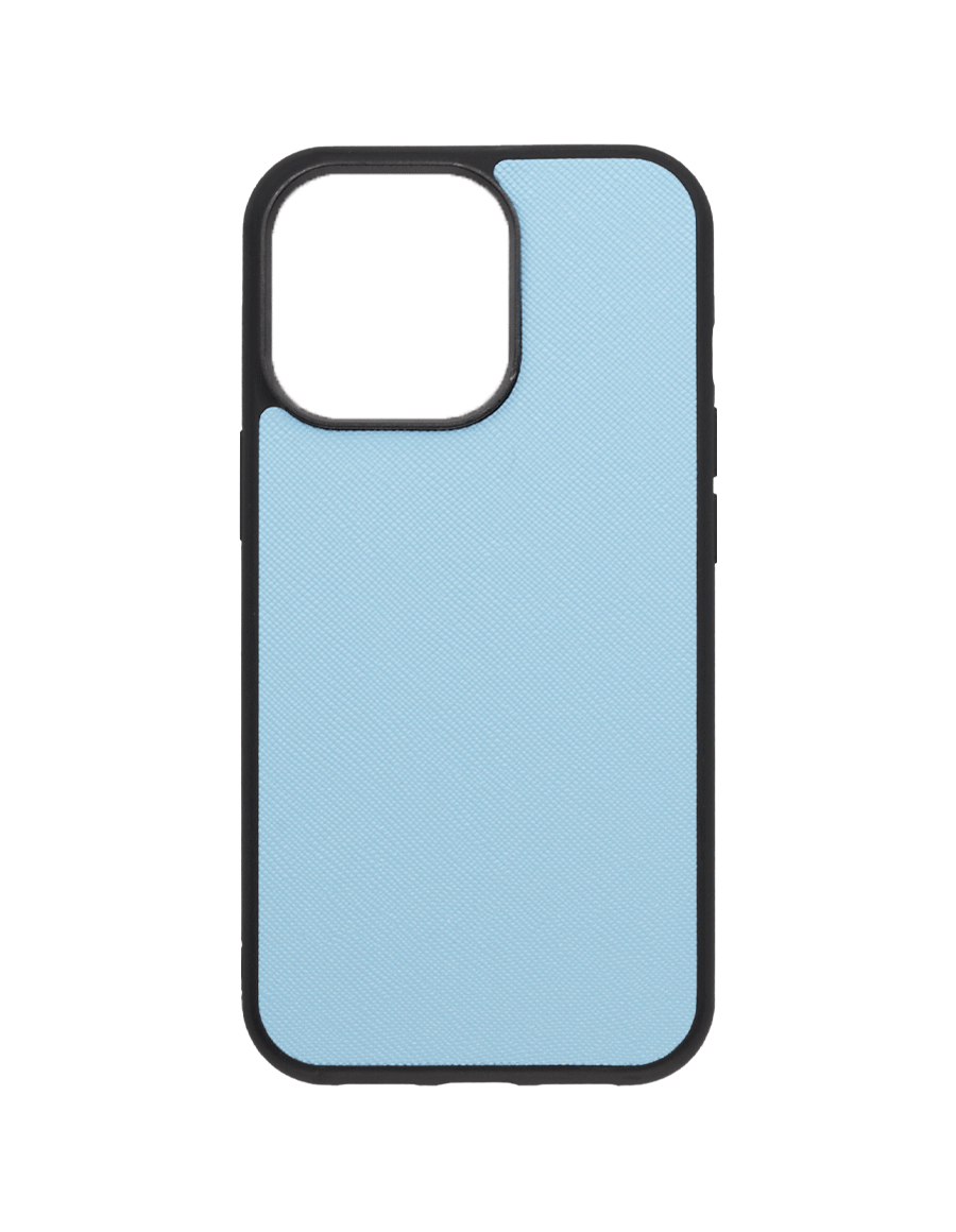 Frost Blue Saffiano Vegan iPhone 13 Pro Case