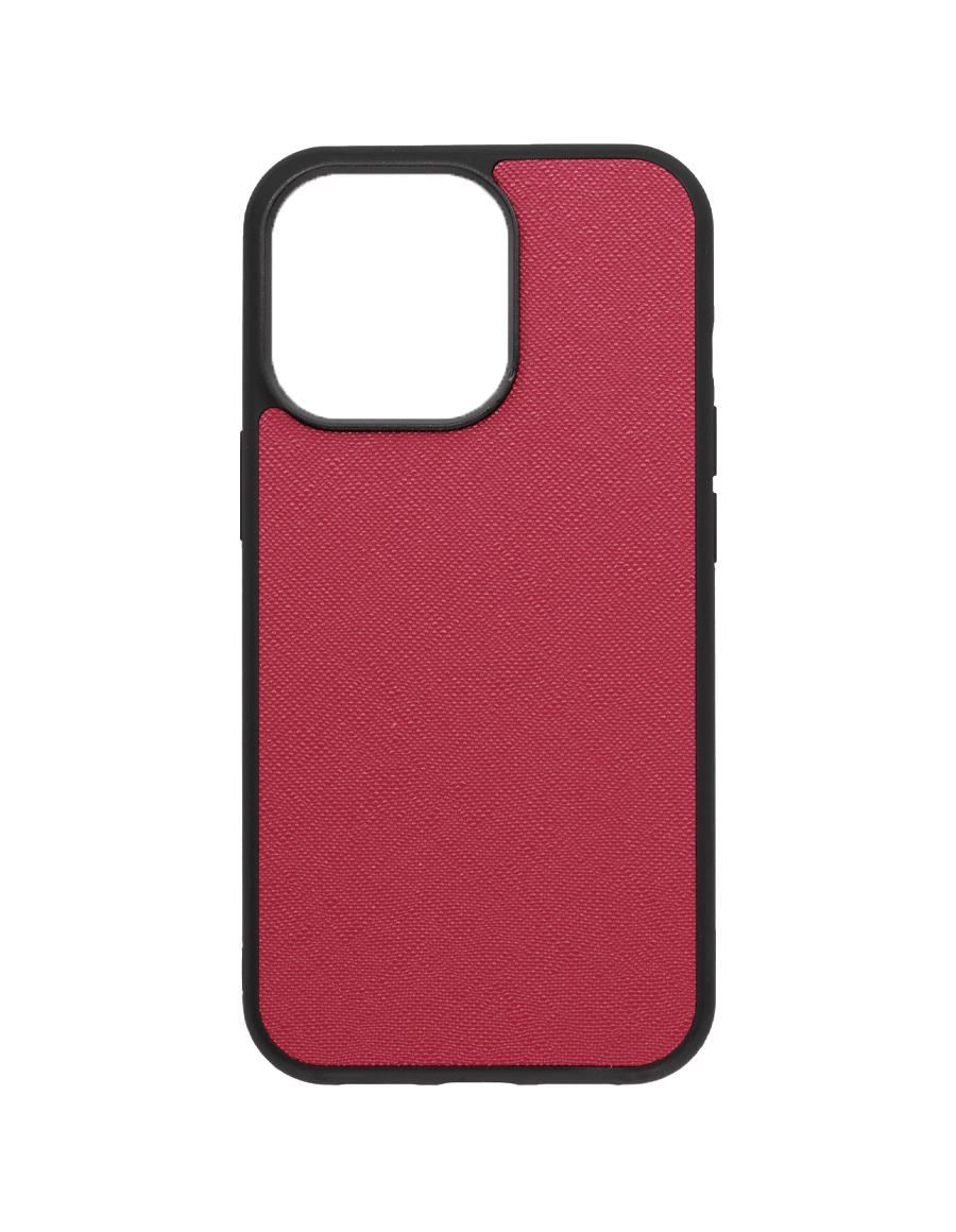 Rubine Saffiano Vegan iPhone 13 Pro Case
