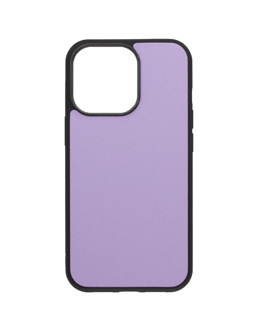 Lilac Saffiano Vegan iPhone 13 Pro Case