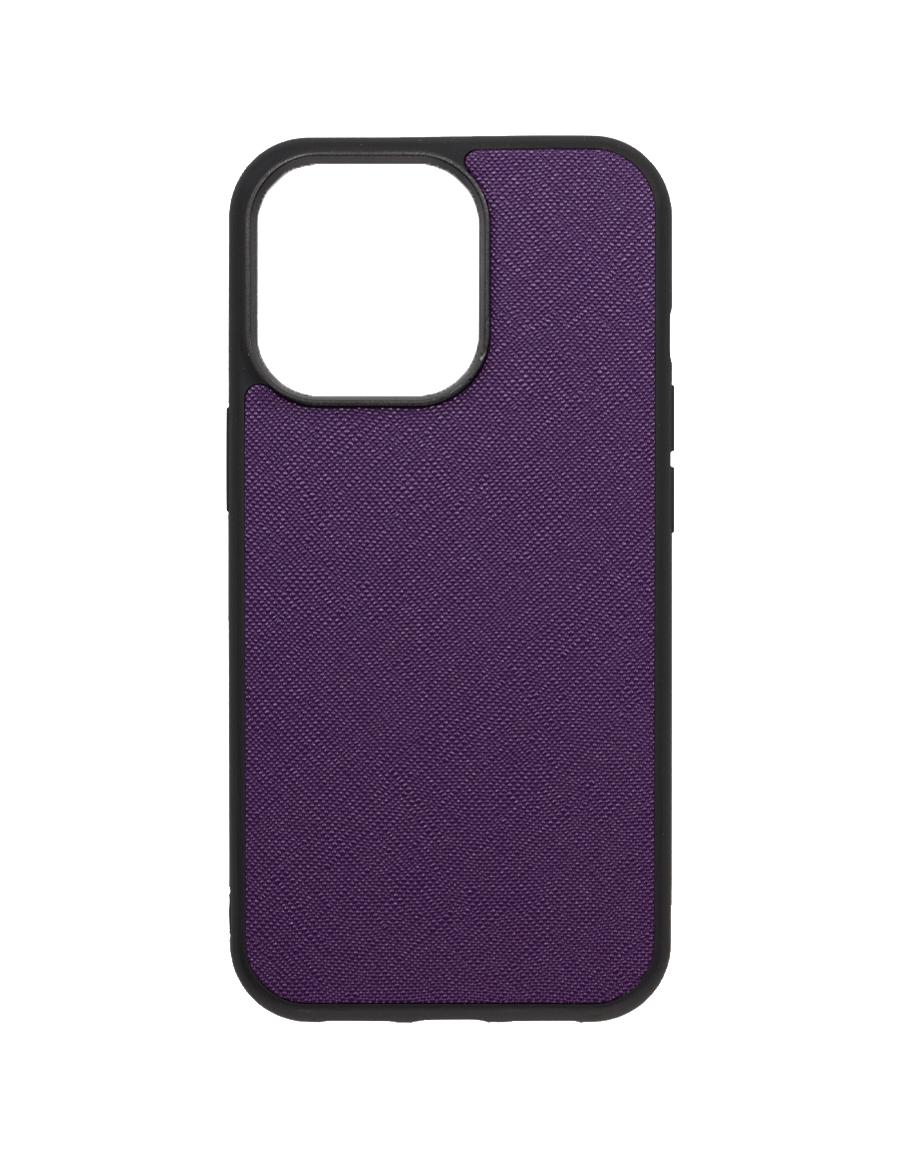 Indigo Purple Saffiano Vegan iPhone 13 Pro Case