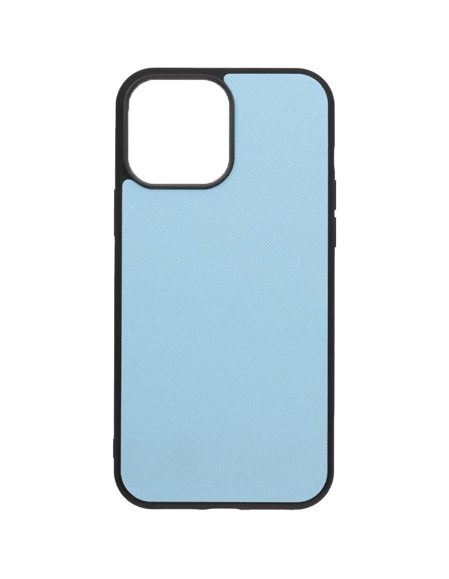 Frost Blue Saffiano Vegan iPhone 13 Pro Max Case