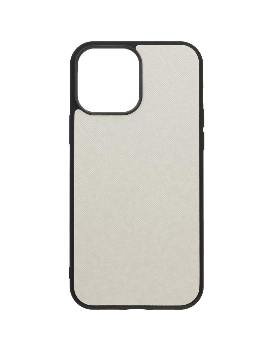 Linen White Saffiano Vegan iPhone 13 Pro Max Case
