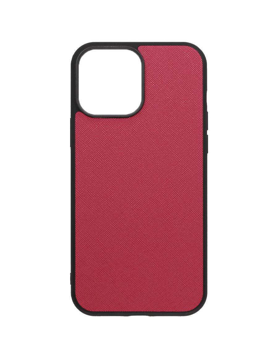 Rubine Saffiano Vegan iPhone 13 Pro Max Case