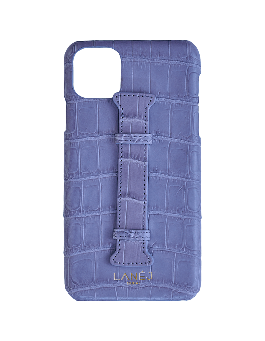 Matte Lilac  Croc Iphone 11 Pro Max With Holder