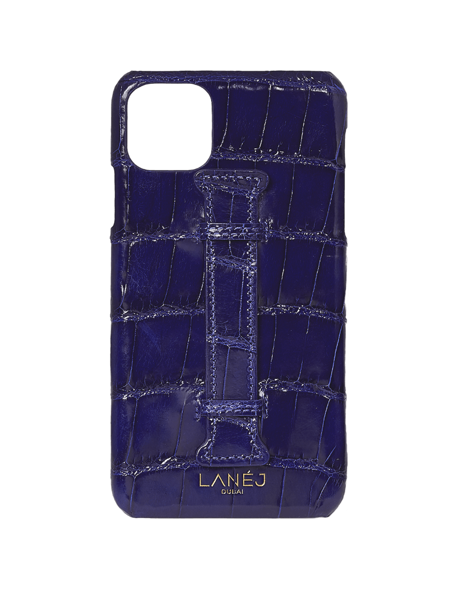 Midnight Blue Croc Iphone 11 Pro Max With Holder