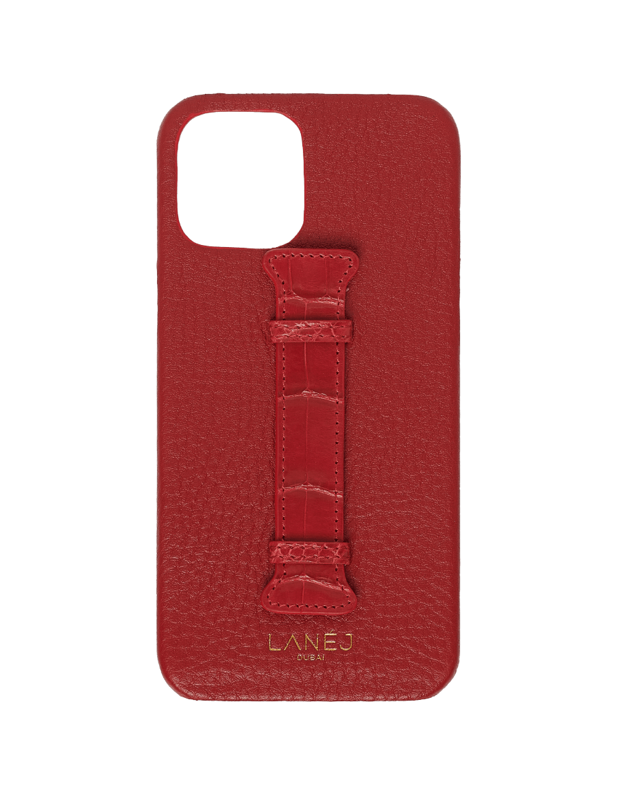Red Togo iPhone 12 Pro Max with Croc Holder