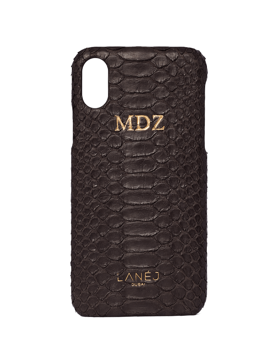 Black Python Iphone X With Initials ''MDZ''