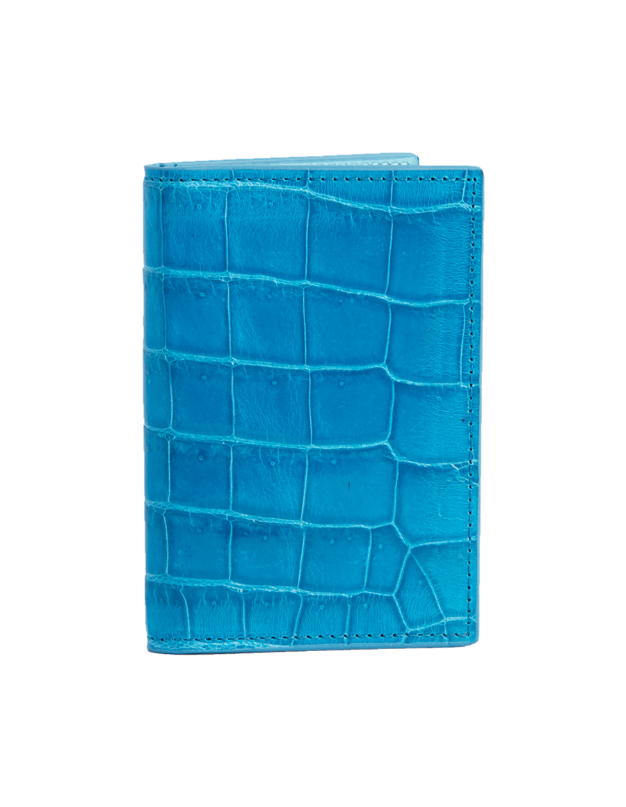 Amazon Blue Crocodile Bi-Fold Card Holder