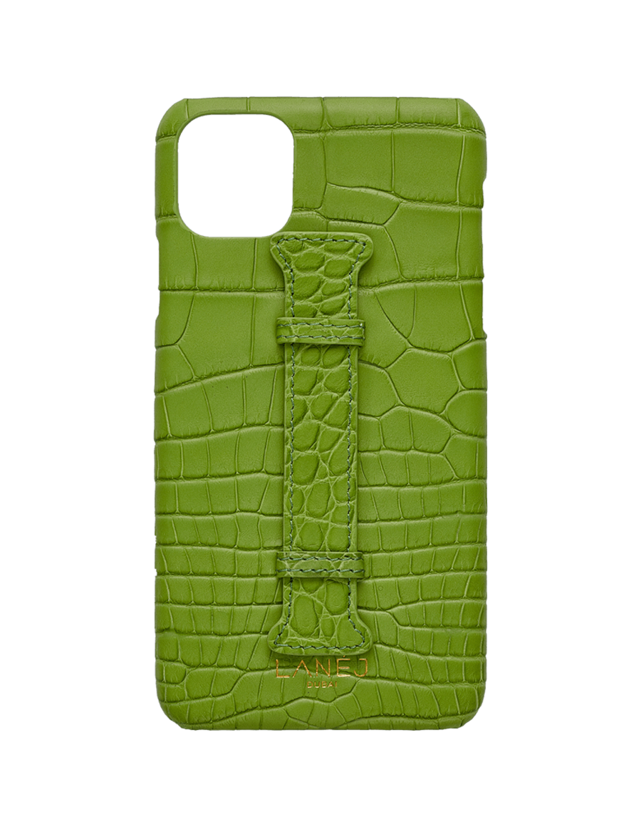 Matte Apple Croc Iphone 11 Pro Max With Holder