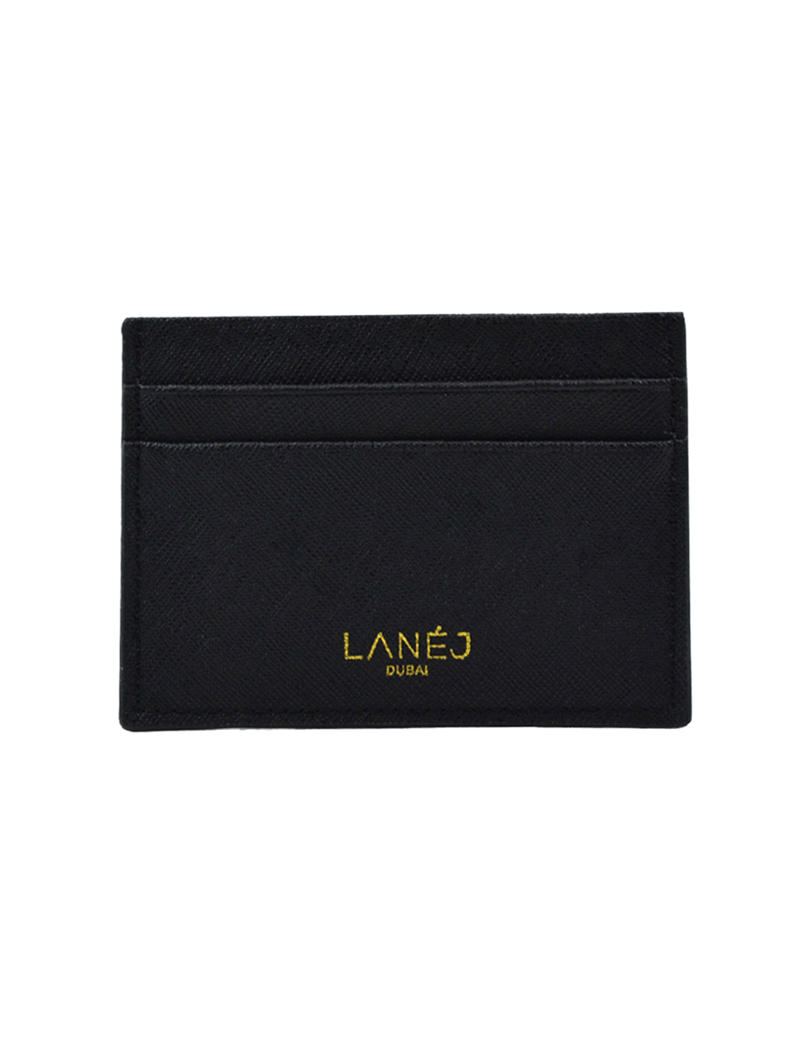 Black Saffiano Signature Card Holder