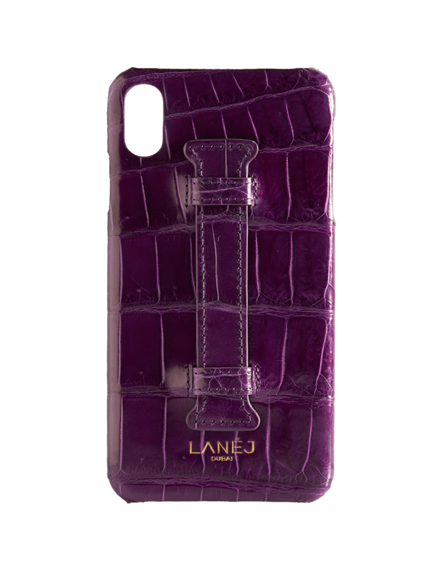Boysenberry Croc Iphone XS Max With Holder