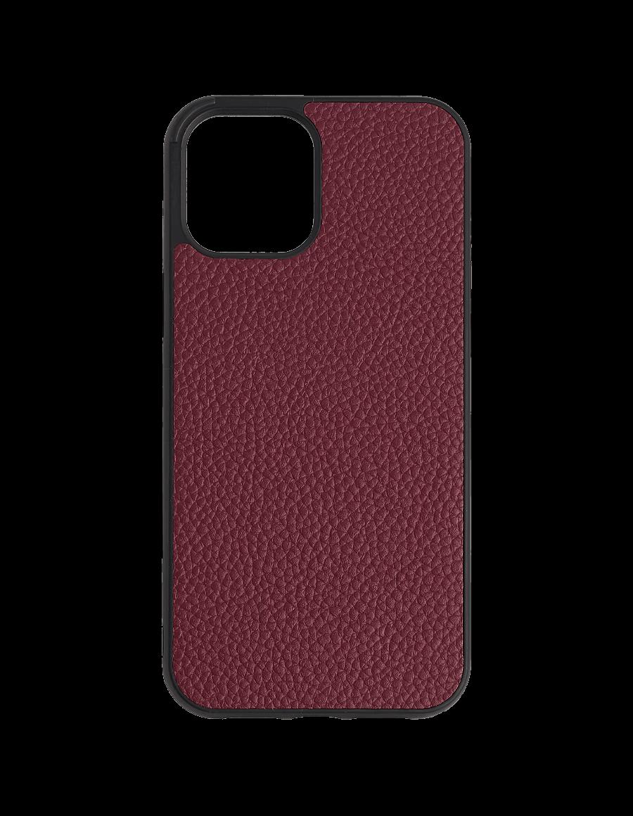 Burgundy Vegan iPhone  12 Pro Max Case