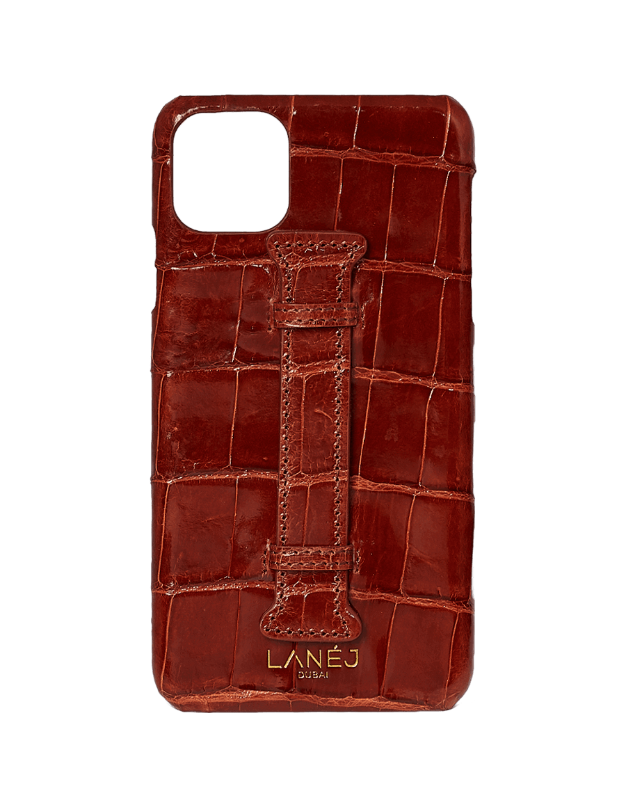 Burgundy Croc Iphone 11 Pro Max With Holder