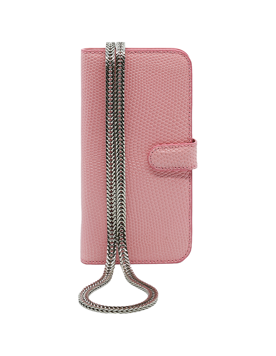 Candy Pink Lizrad iPhone 12 Pro Max Crossbody case