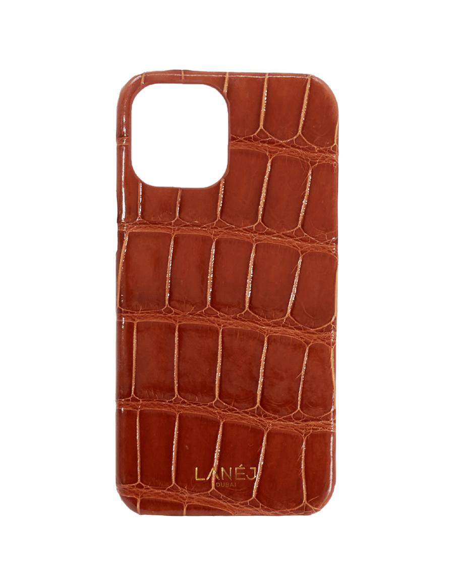 Cinnamon Brown Crocodile iPhone 12 Pro Max Case