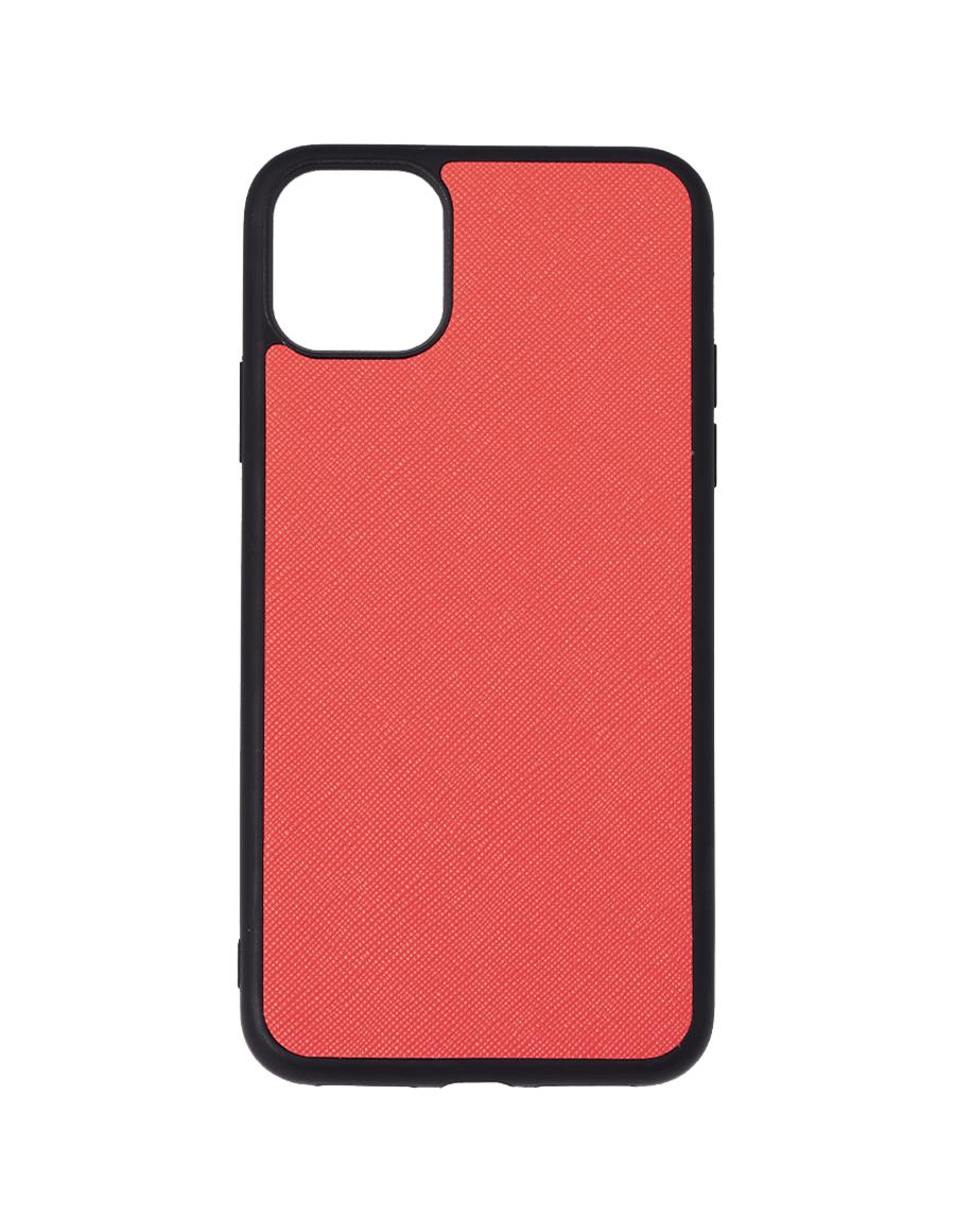 Coral Saffiano Vegan iPhone 11 Pro Max Case