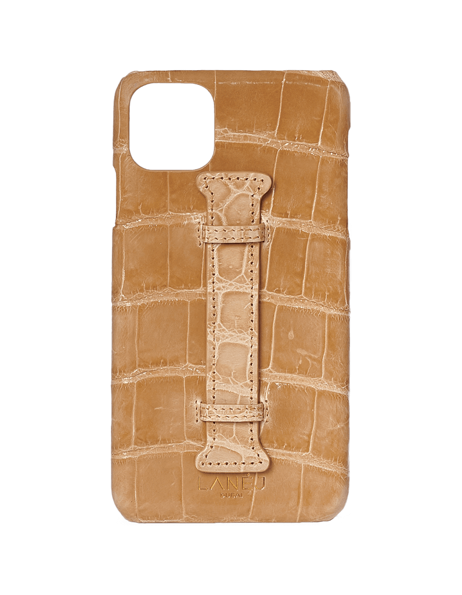 Creme Croc Iphone 11 Pro Max With Holder