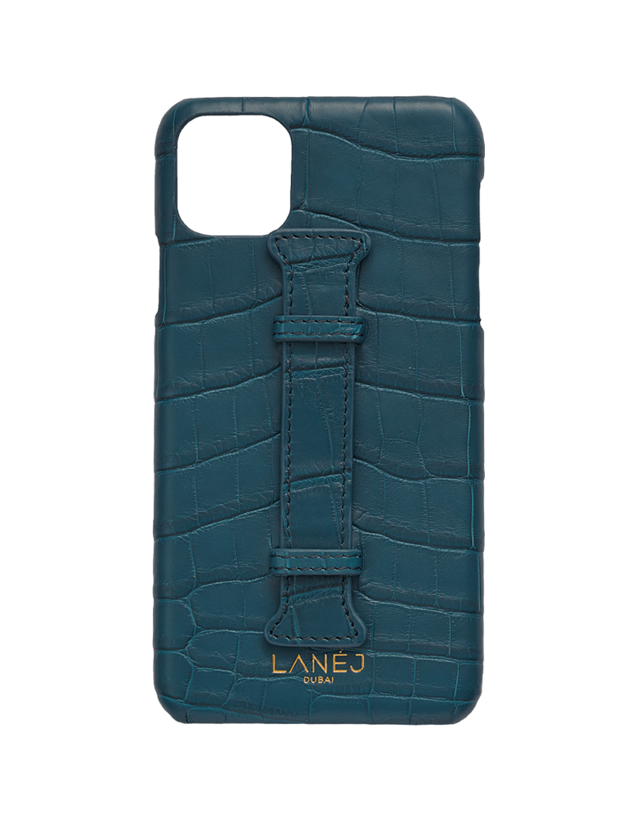 Matte Denim IV Croc Iphone 11 Pro Max With Holder