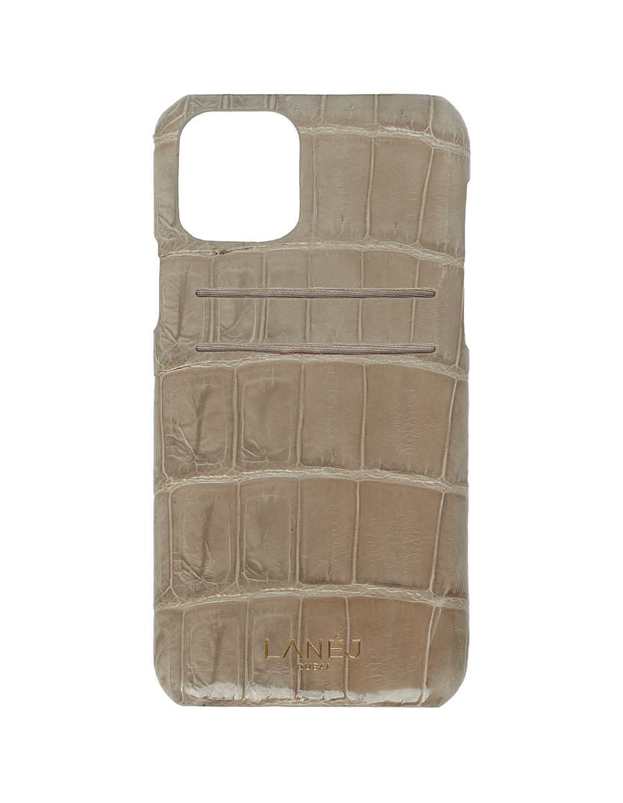 Dorian Grey Croc iPhone 11 Pro With Card Slots