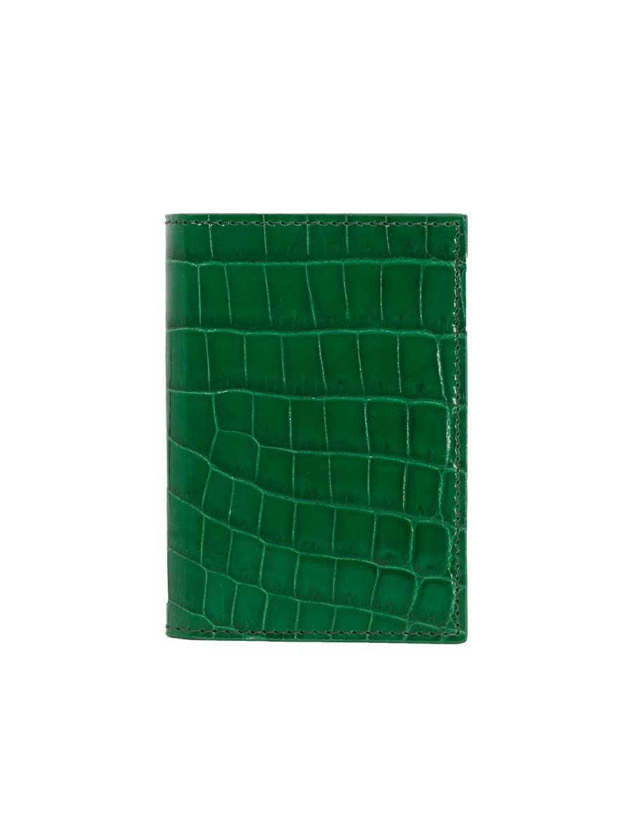 Emerald Green Crocodile Bi-Fold Holder