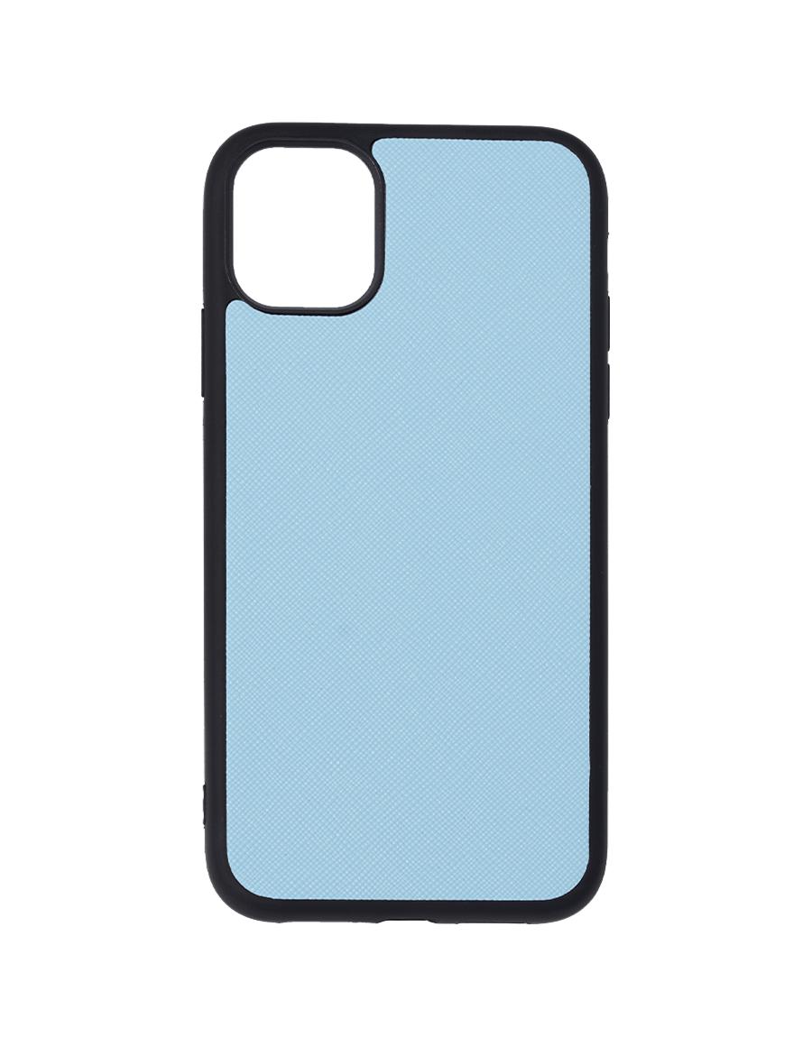 Frost Blue Saffiano Vegan iPhone 11 Case