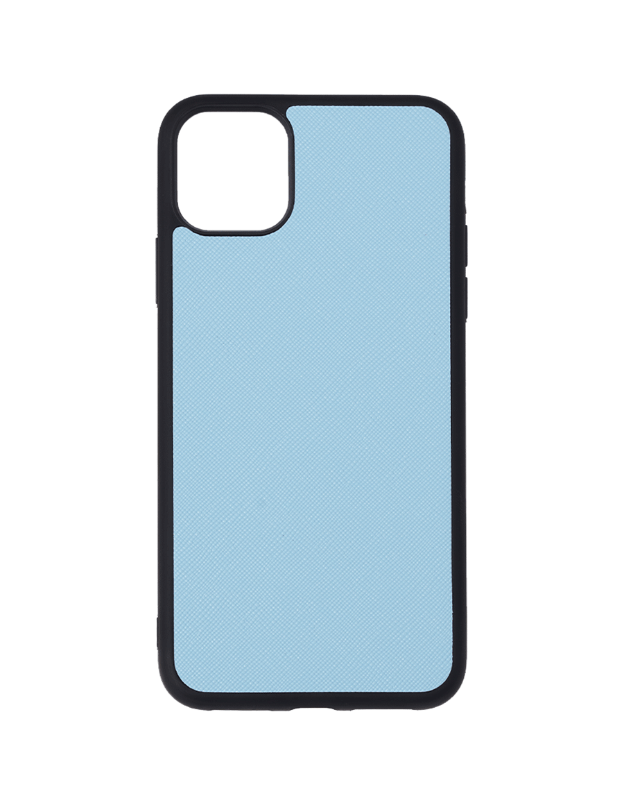 Frost Blue Saffiano Vegan iPhone 11 Pro Max Case