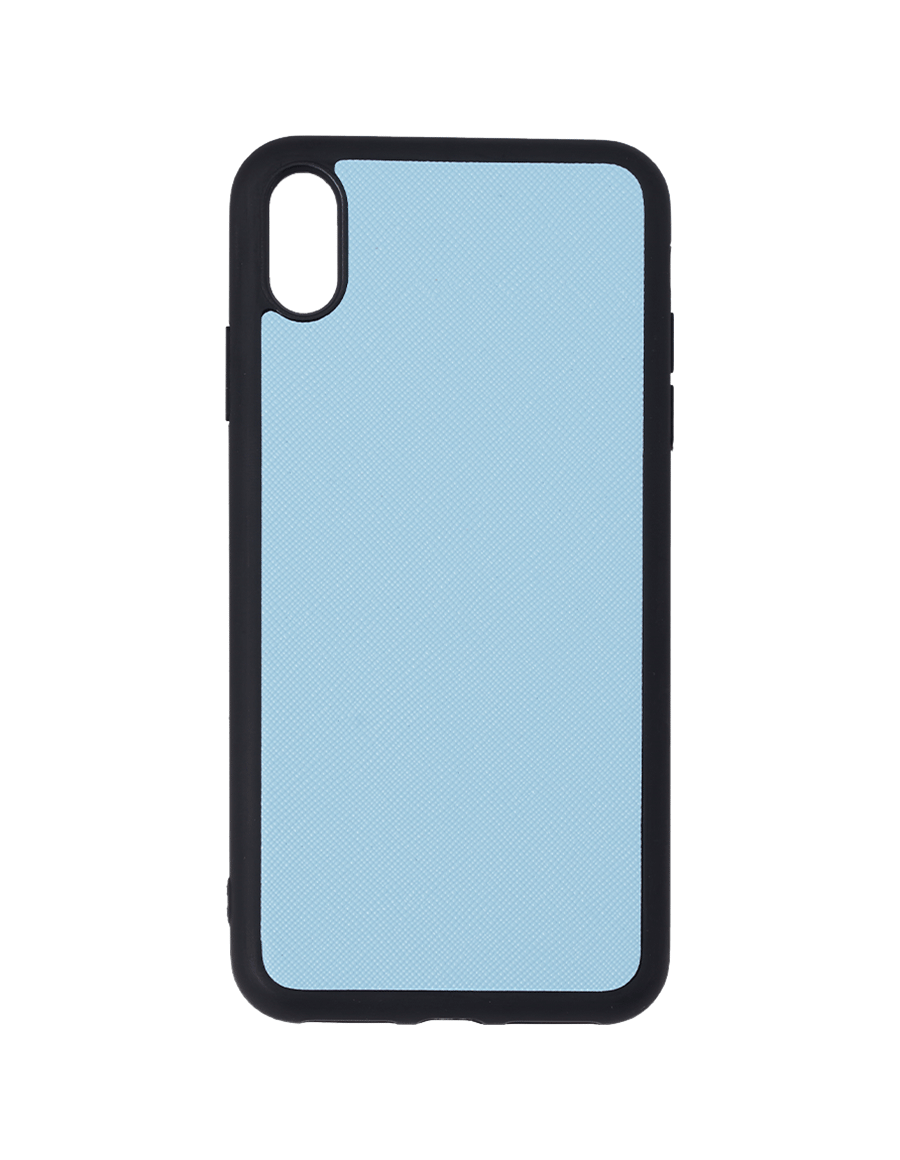 Frost Blue Saffiano Vegan Iphone XS Max Case