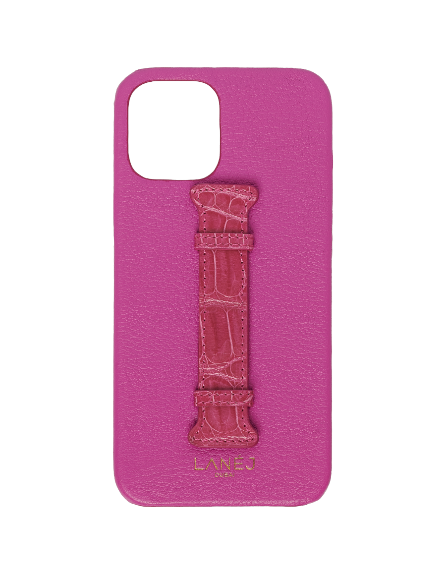 Hot Pink Togo iPhone 12 / 12 Pro with Croc Holder