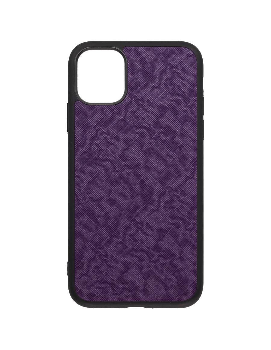Indigo Purple Saffiano  Vegan iPhone 11 Case