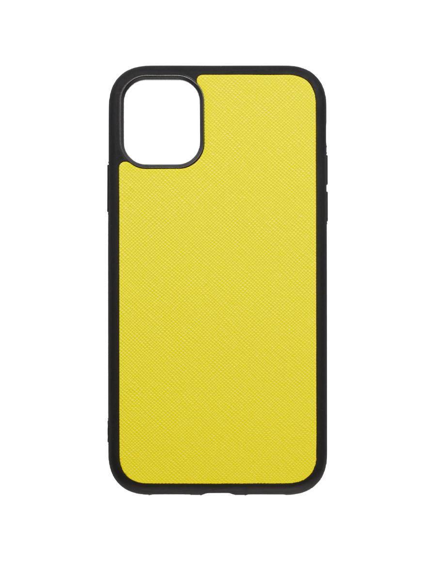 Lemon Saffiano Vegan iPhone 11 Case