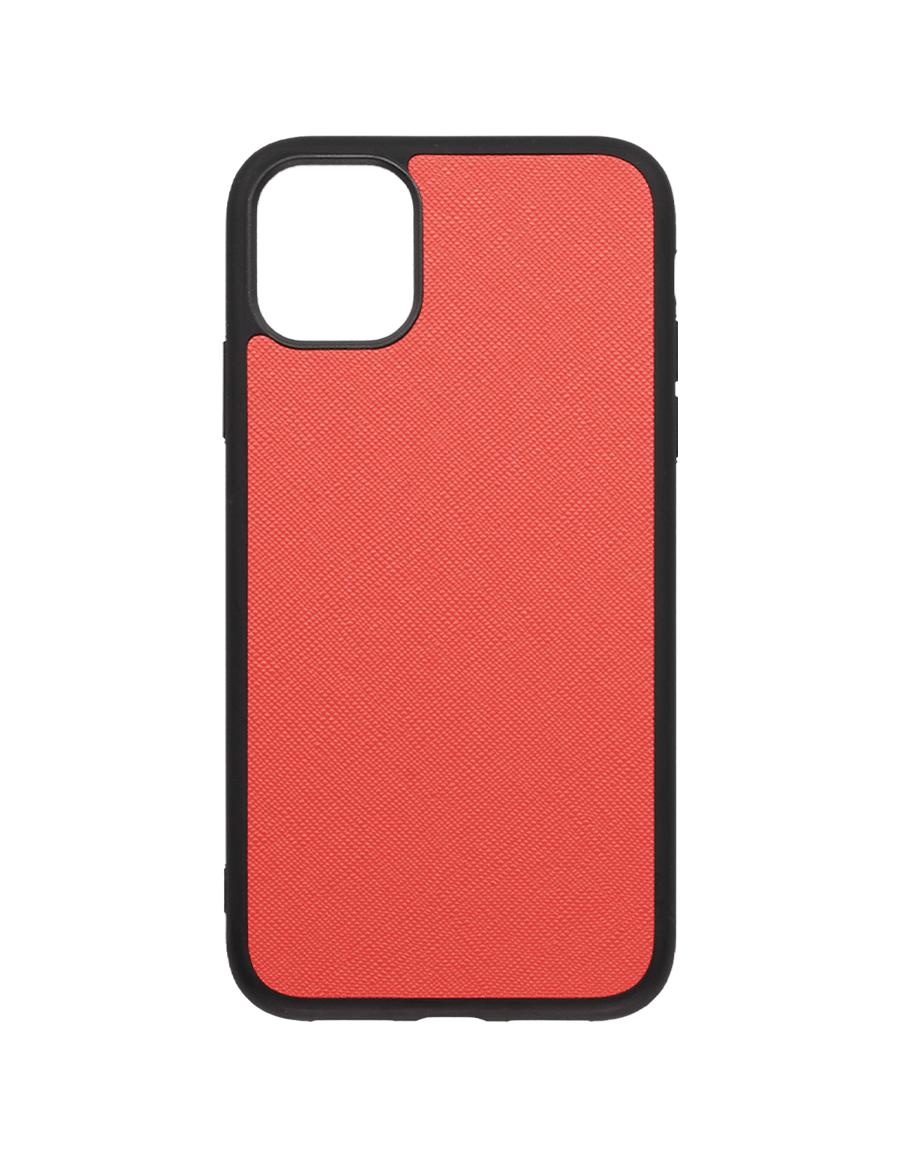 Coral Saffiano Saffiano Vegan iPhone 11 Case