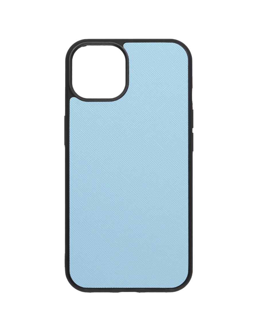 Frost Blue Saffiano Vegan iPhone 13 Case