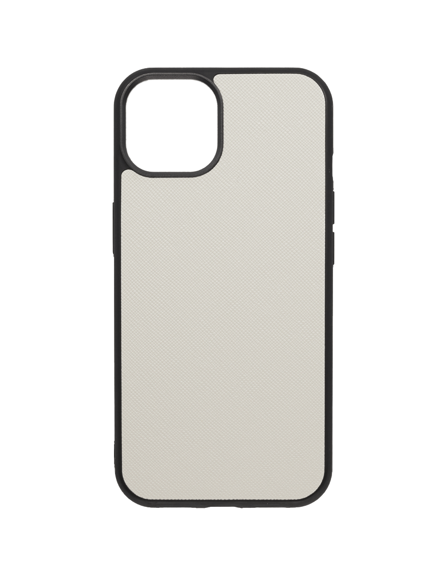 Linen White Saffiano Vegan iPhone 13 Case
