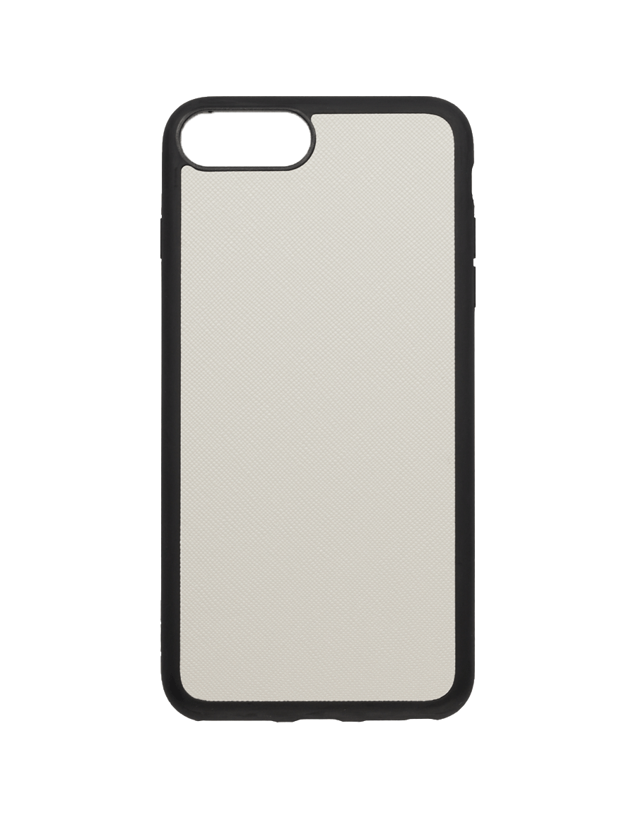 Linen White Saffiano Vegan iPhone 7+/8+ Case