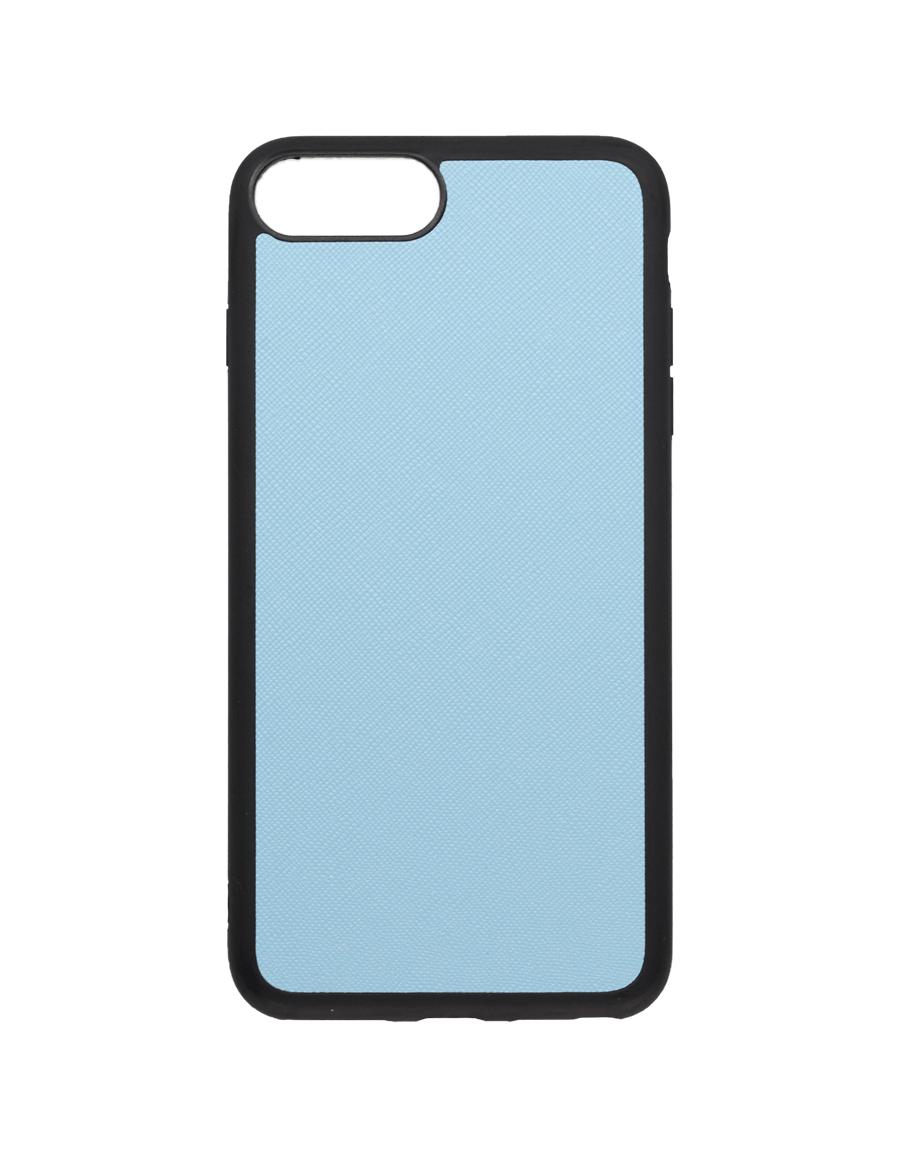 Frost Blue Saffiano Vegan iPhone 7+/8+ Case