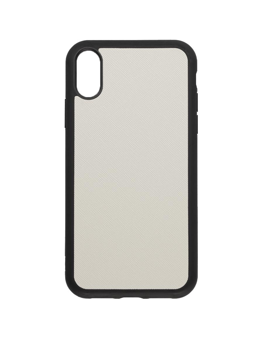 Linen White Saffiano  Vegan  iPhone XR Case