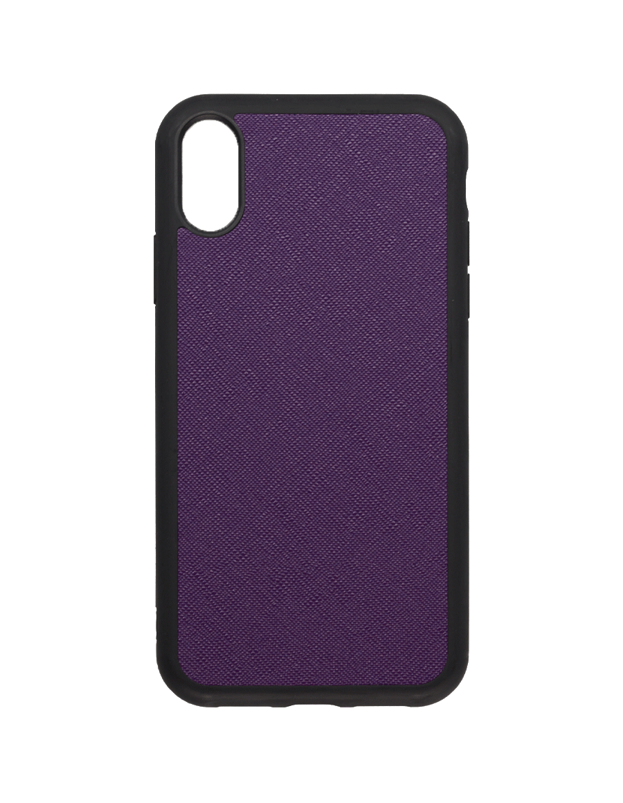 Indigo Purple Saffiano  Vegan  iPhone XR Case