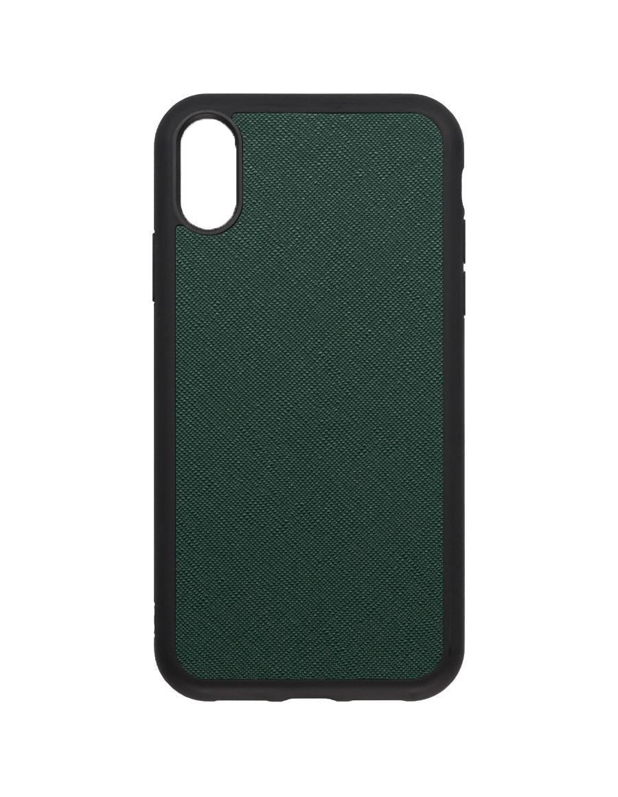 Timber Green Saffiano  Vegan  iPhone XR Case
